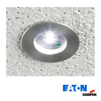 Cooper Eaton MPM Micropoint 3W LED Kit Emergency Recessed Spotlight with Battery