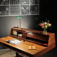 Flos Goldman LED Lampada da Tavolo Ottone/Verde F3440044