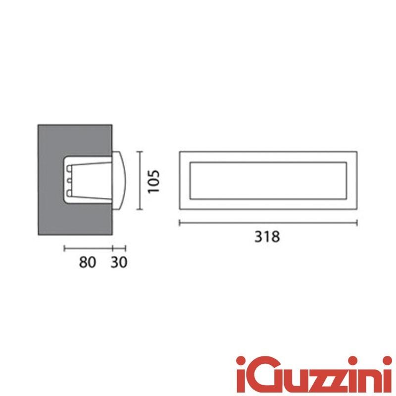 IGuzzini 7131 Walky incasso muro esterni fluorescenza ...