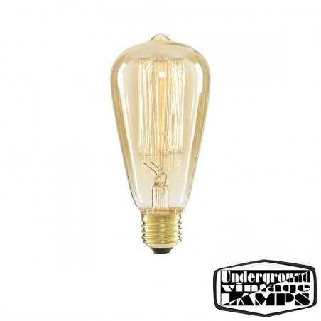 Bulb cone vintage ST64 40W 230V incandescent filament