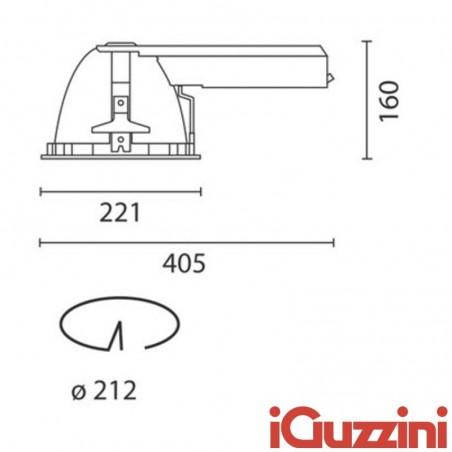 IGuzzini 8318.039 Optica Faretto Incasso bianco 26W Fluorescente