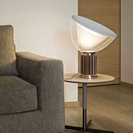 Flos Taccia Small LED 16W Table Lamp Bronze Dimmable F6604046 Castiglioni