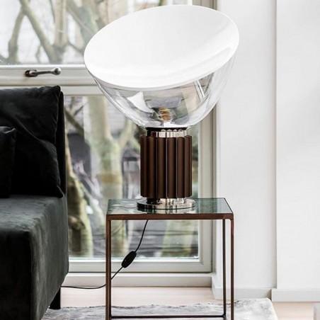 Flos Taccia LED Table Lamp Anodized Bronze
