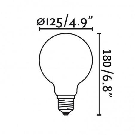 LED Bulb Globe Clear 8W - 75W E27 2700K 600lm