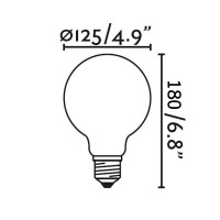 LED Bulb Globe Gold 6W - 50W E27 2400K 600lm