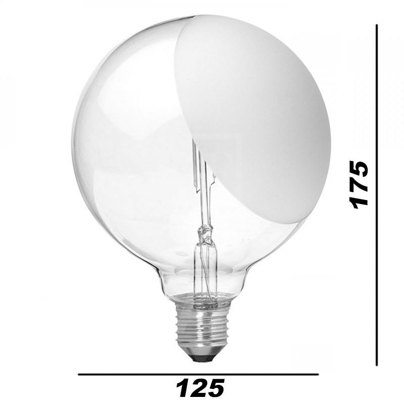 Lampadina led e27 g125 2w 230v 2700k 200 lm smerigliata for Acquisto lampadine led on line