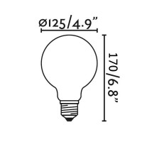 Ideal Lux LED Lampadina E27 Globo D125 8W-75W 1000 lm