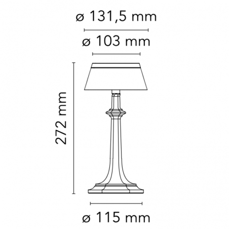 Flos Bon Jour Versailles Small LED Table Lamp Cromo Rosso F1042057 F1036035