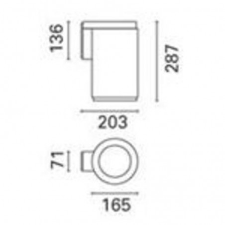 IGuzzini BA25.015 iRoll 65 applique external 35W G8.5 cylinder