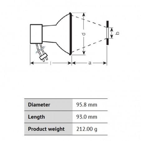 Osram Powerstar HQI-R 150W NDL Deluxe Neutral White for Illuminators