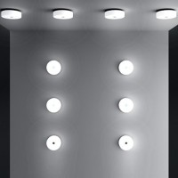 Flos Mini Button small Applique wall or ceiling Lamp By Piero Lissoni