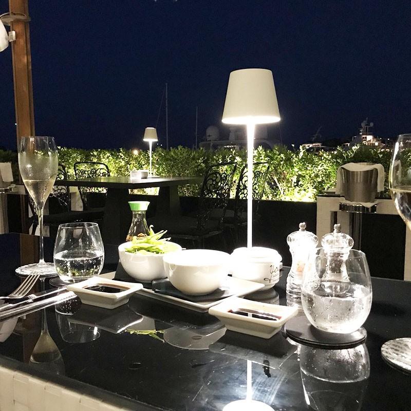 Faro toc led lampada da tavolo 2w portatile ricaricabile ip54 uso esterno e interno diffusione - Lampada led da tavolo ricaricabile ...