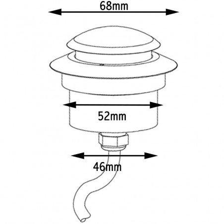 Targetti LED-y recessed LED outdoor ip68 360° 1e1032