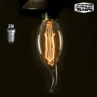 Lampadina Vintage C35 25W Fiamma E14 filamento carbonio