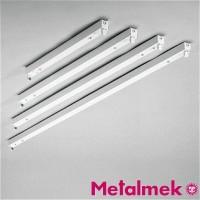 Metalmek T5 1x14W Regletta Plafone per Tubolare Fluorescente Bianco DALI DIM
