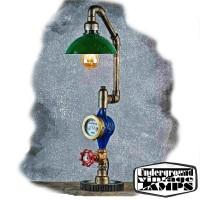Lampada da Tavolo MINI PIPE 1 x E27 Edison Vintage stile Industriale fabbricata in Bali