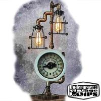 Lampada da Tavolo PORT STAR 2 x E27 Edison Vintage stile Industriale fabbricata in Bali