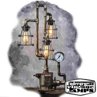 Table Lamp HEAD DRAGON 3 x E27 Edison Vintage Industrial style made in Bali