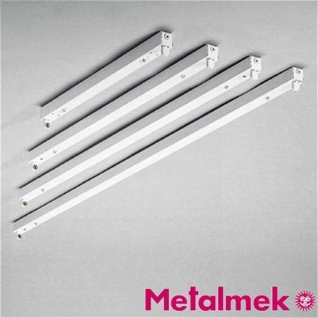 Metalmek T5 1x28W Regletta Plafone per Tubolare Fluorescente Bianco DALI DIM