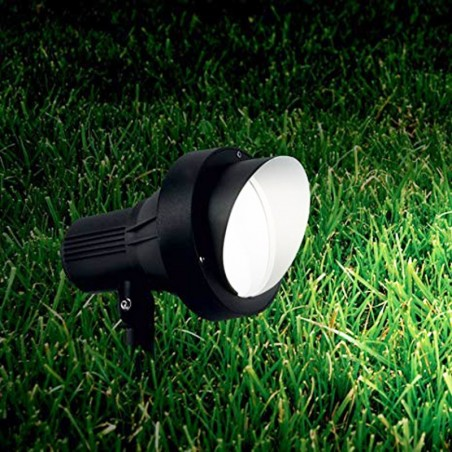 Ideal Lux Terra PT1 Small Outdoor Ground Spotlight with Picket GU10 35W