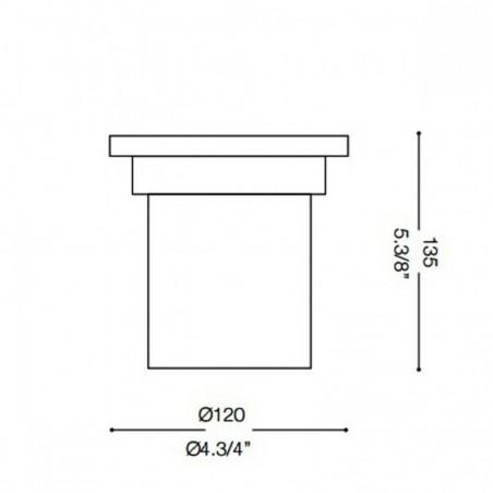 Ideal Lux Park PT1 Small Outdoor Floor Recessed Spotlight IP65