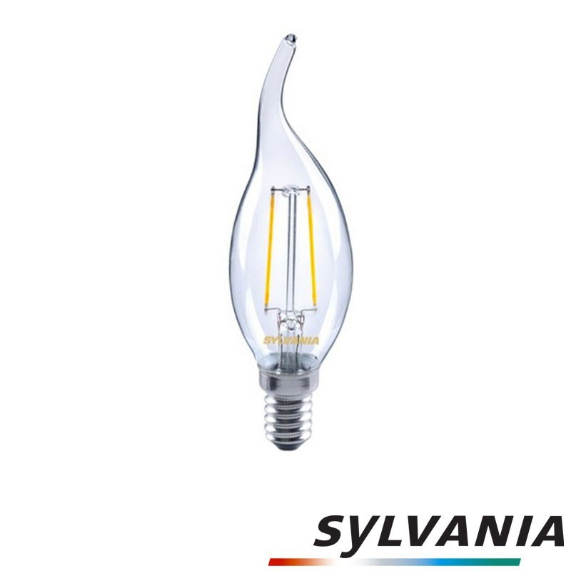 SYLVANIA ToLEDo LED Retro Vintage Candle Clear Lamp E14 2.5W-30W 230lm 2700K