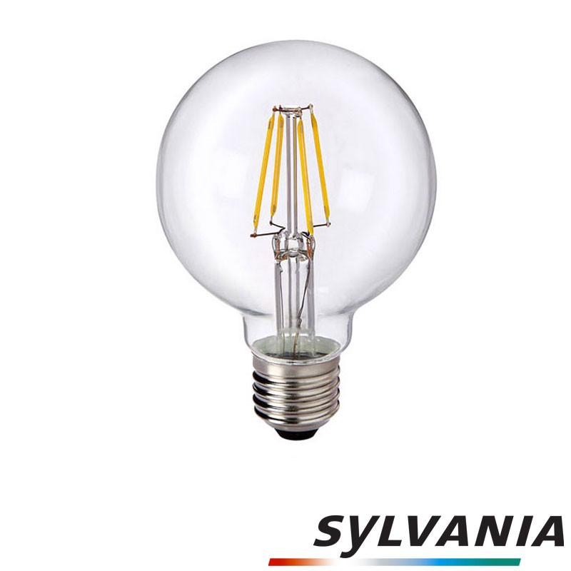 SYLVANIA ToLEDo LED Retro Vintage Globo G80 Lampadina E27 5W 50W 640 lm 2700K   Diffusione Luce srl -> Lampadine Globo Led Trasparente