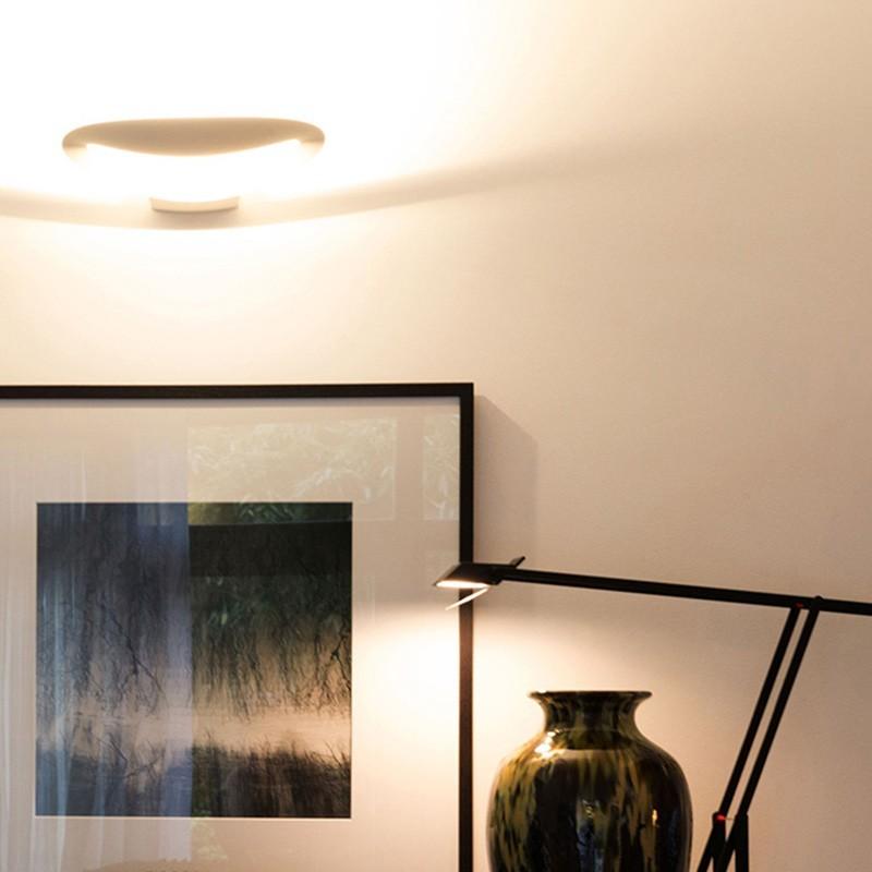 Artemide mesmeri bianco applique lampada da parete diffusione luce srl - Lampada parete artemide ...