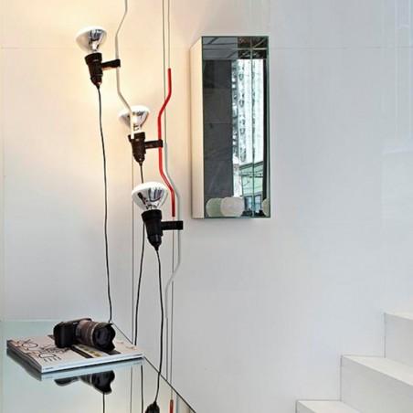 Flos Parentesi Suspension Pendant Lamp Nickel F5400058 LED LAMP INCLUDED