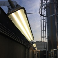 Disano Fosnova Forma T8 994 2x58W G13 Ceiling Lamp Steel/Glass IP65