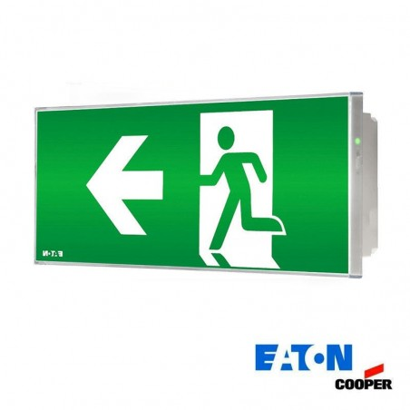 Ceiling led emergency exit left arrow cooper 150lm 11w knows and if autotest