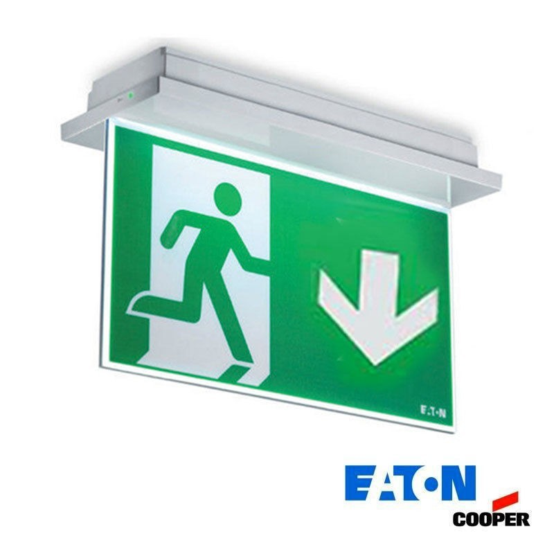 LED ceiling low emergency exits sided cooper 150lm 11w knows-if autotest