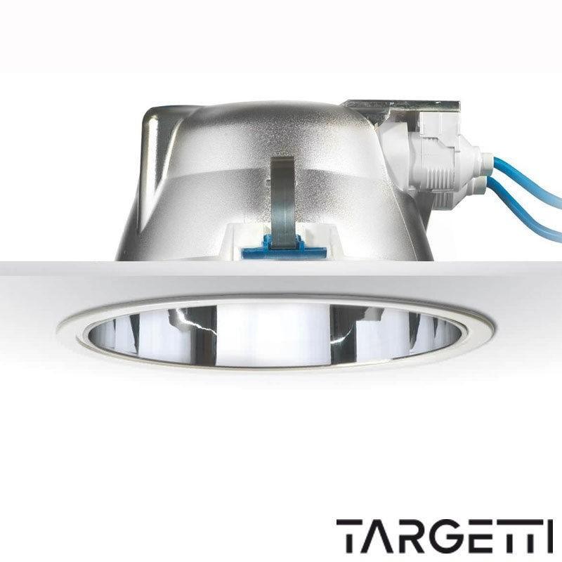 Targetti faretto incasso cct flash 54034elx 2x32w gx24q fluorescenza