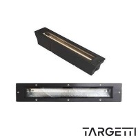 Targetti projector recessed floor wall mercure 78717 fluorescent 11w ip67 black