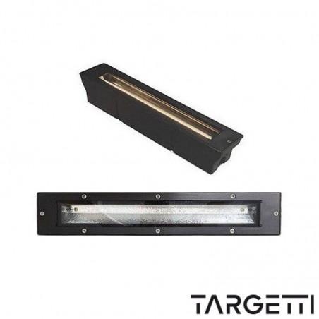 Targetti proiettore incasso pavimento parete mercure 78717 fluorescenza 11w ip67 nero