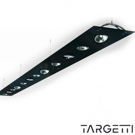 Targetti sospensione planare multilampada nero sherazade 1t2149 qr111 led