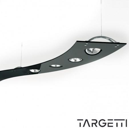 TARGETTI Sospensione Modulo Curva Nero SHERAZADE 1T2173 4x100W QR111 LED