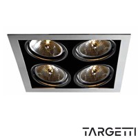 Targetti kr1 1v7378 recessed Multioptic 4 recessed lamps