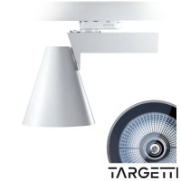 Targetti while projector 70w white swivel 1t2578