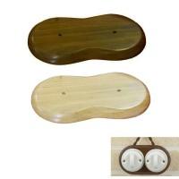 Base in Legno doppia per Installazione Scatola di Derivazione o Interruttore in ceramica o porcellana