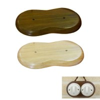Double Wood Base for Installation Junction Box or Switch in ceramic or porcelain