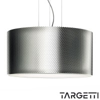 Suspension targetti esedra funky metal chrome 55w fluorescent