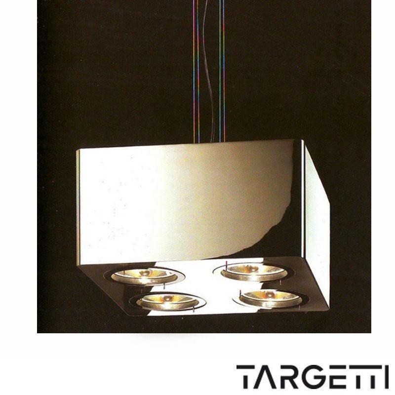 Targetti esedra evolution box sospensione 4x75w max