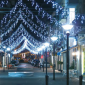New Lamps Luminaria Tenda 128 Bulbi LED 13W 230V 24V Luce Fredda Flash Luce Calda 5 metri Prolungabile