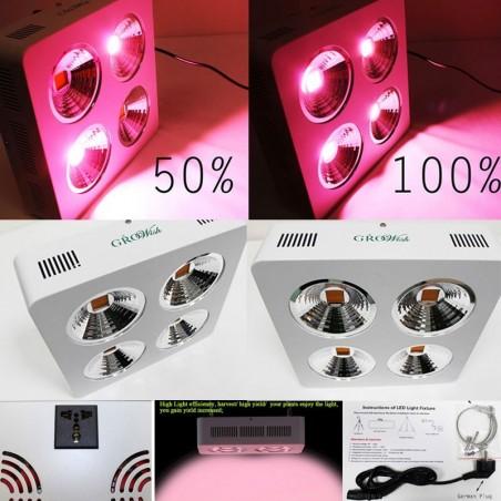 Growish Lampada Professionale COB LED per Coltivazione / Crescita Piante Indoor