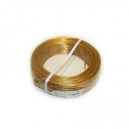 100 metri cavo piattina 2x0_50mmq colore oro 220V sezione cavo 0_50 mmq