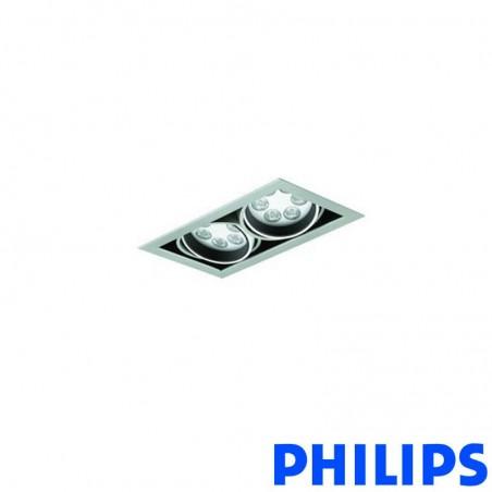 Philips BBX395 2x6LED TurnRound Gridlight Recessed Spotlight 18W 25° 3000K