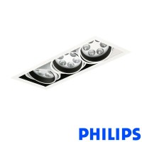 Philips BBX395 3x6LED TurnRound Gridlight Faretto Incasso 18W 40° 3000K Bianco