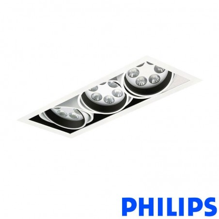 Philips BBX395 3x6LED TurnRound Gridlight Recessed Spotlight 18W 40° 3000K White