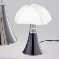 Martinelli Luce Mini Pipistrello LED Table Lamp titanium Design Gae Aulenti